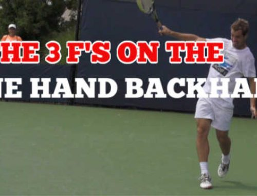 One Hand Backhand Lesson – The 3 F's