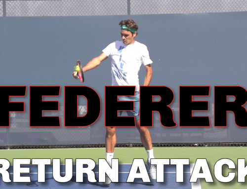 Roger Federer Backhand ATTACKING Return of Serve