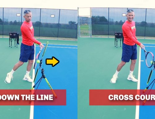 How To Hit Forehands Down The Line and Crosscourt in Tennis
